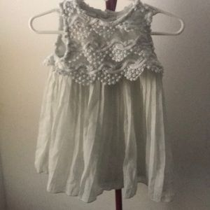 Baby Girl Lace Top Dress W/Pleaded Bottom